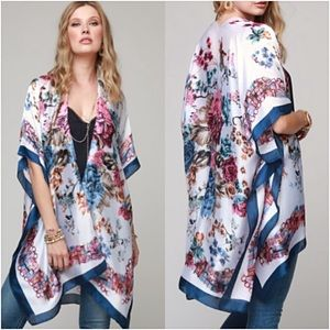 b945d48da Sweaters - Satin Cardi Kimono Coverup Wrap One Size